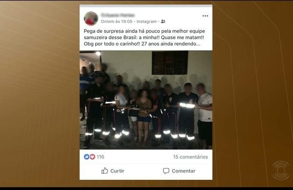 Equipe do Samu usa ambulância para ir a festa durante plantão na Paraíba