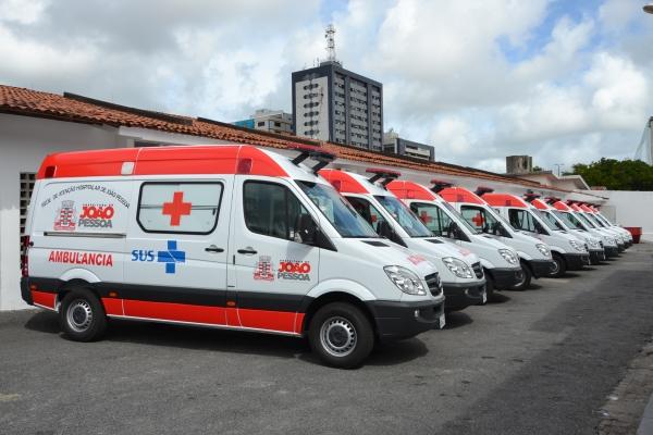 Samu de João Pessoa receberá cinco novas ambulâncias