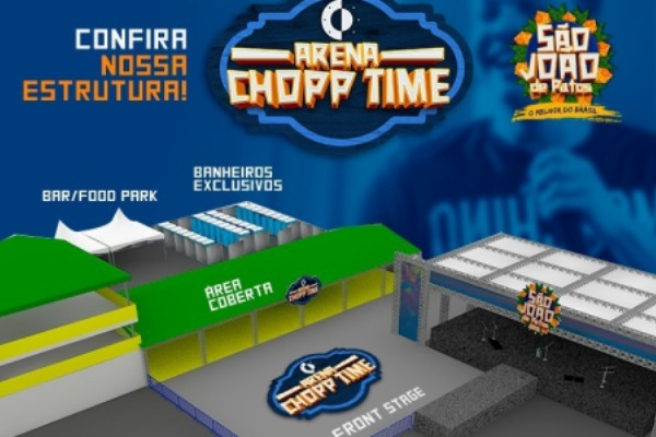 Arena Chopp Time é mais uma atração do São João de Patos 2018