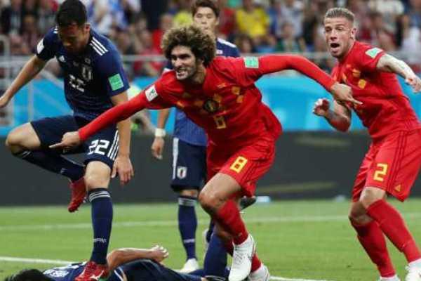 Bélgica vira sobre o Japão nos acréscimos e enfrentará o Brasil nas quartas
