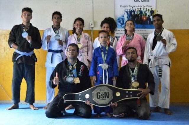 Atletas de projeto da PMJP conquistam 28 medalhas em competição regional de jiu-jitsu