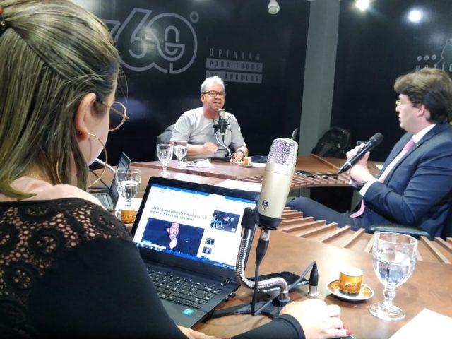Rede 360 news chega nesta segunda-feira à Guarabira e Hervázio Bezerra é o convidado de hoje do 360 graus
